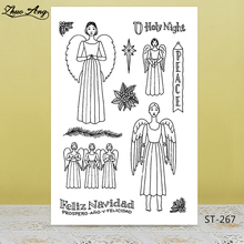 Holy night/angel  Transparent Silicone Stamp/Seal for DIY Scrapbooking/Photo Album Decorative Card Making Clear Stamps Supplies