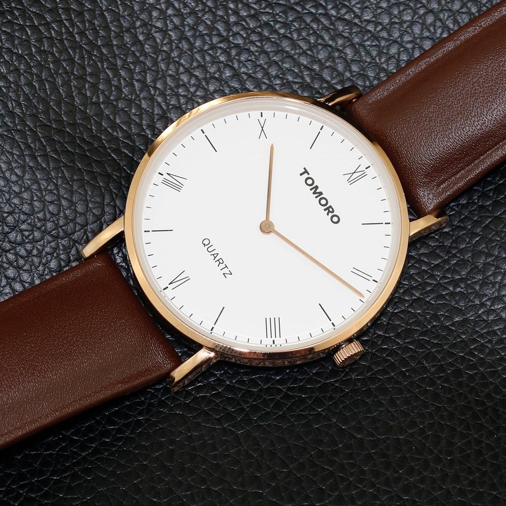 Minimalism Luxury brand Famous 2017 Unisex Ladies Watch neutral Bauhaus design Ultra-thin Casual Calfskin Ban Men Business Watch bauhaus