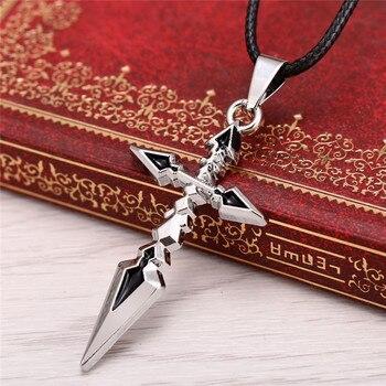 Anime Fate Zero Cross Sword Pendant Necklace Accessories s