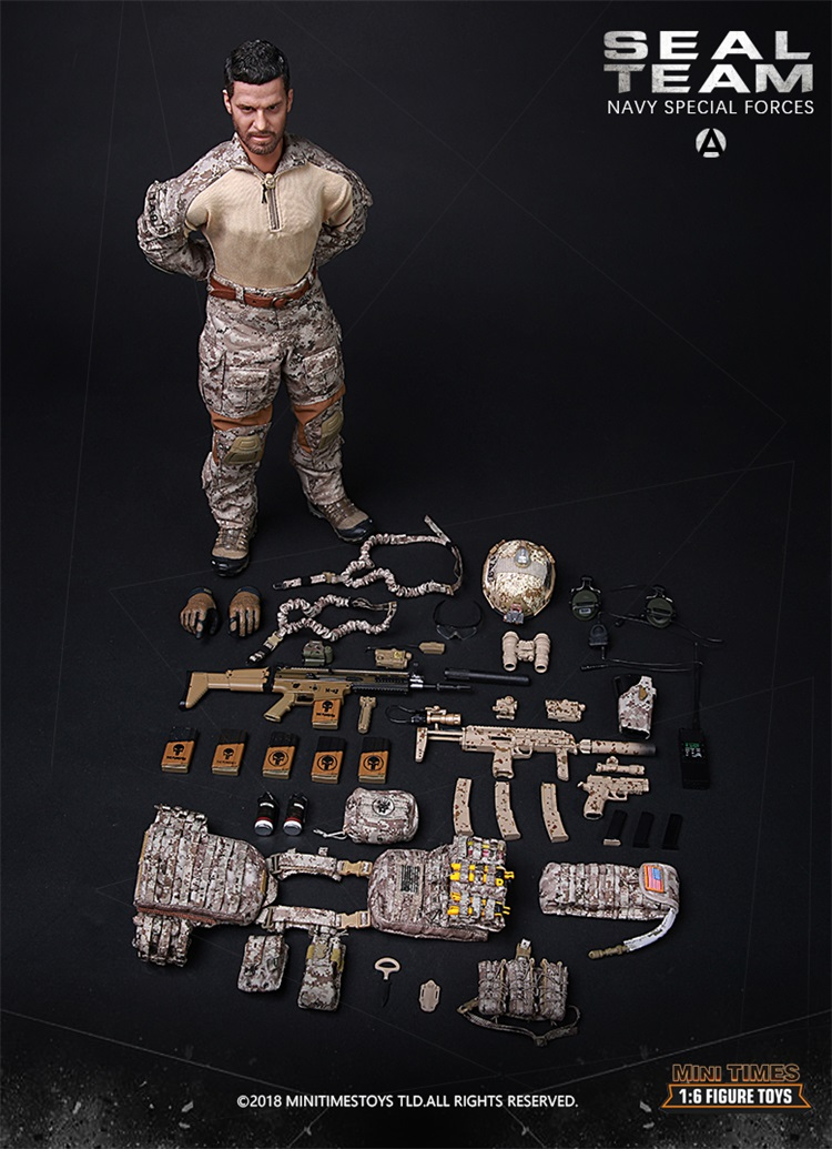 M012 Collections 1/6 Scale Full Set Solider Ratio US Army Navy Seal Special Forces Combat Team A  Action Figure Model Toys 2