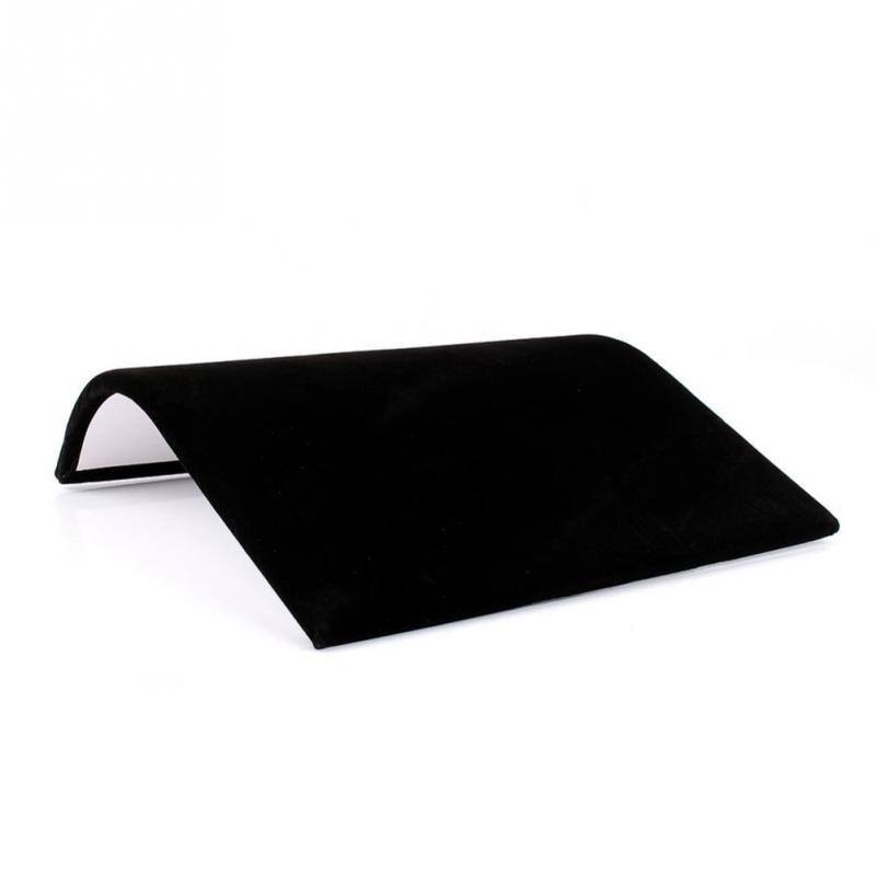 Simple Black Velvet Suede Necklace Bracelet Display Board Jewelry Stand Accessories Holder Rack Showcase Plate Jewelry For Women