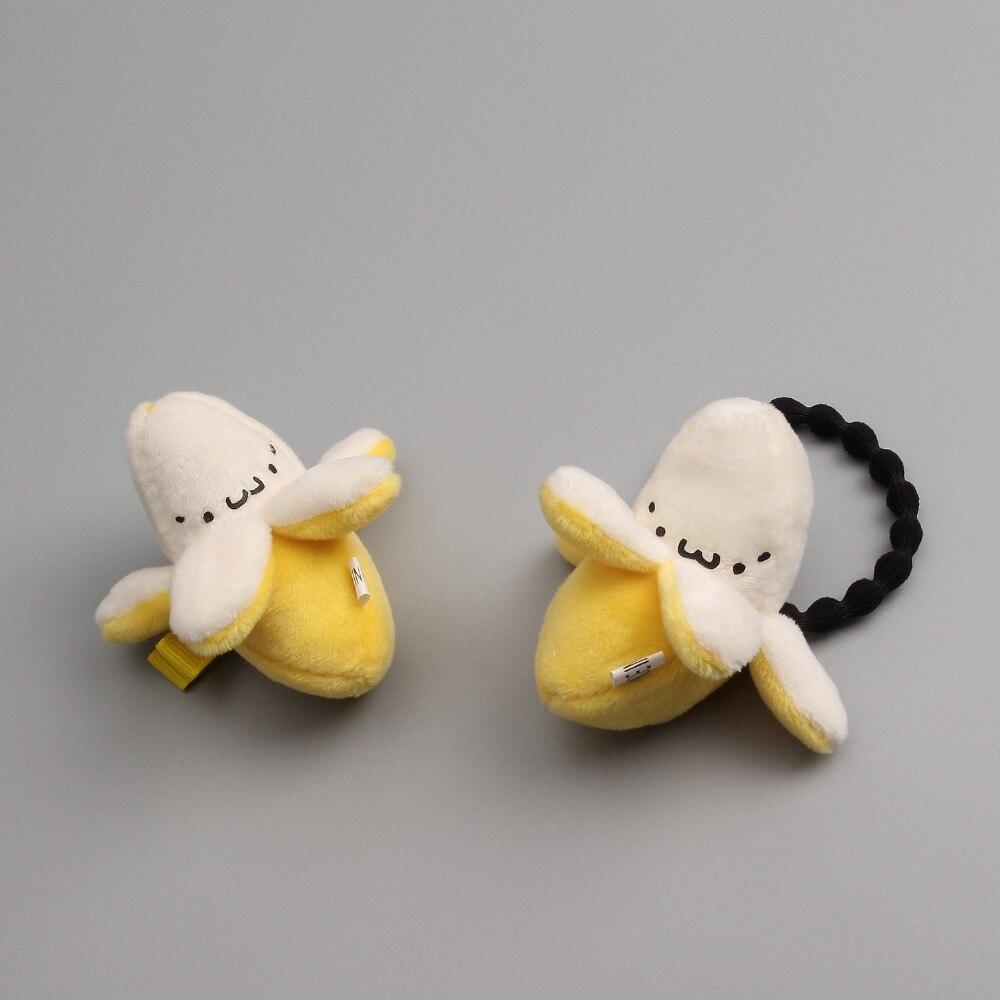 1 PCS Plush Three - Dimensional Cartoon Banana Hairpins Children Headdress Girls Hair Clips   Headwear   Baby Hair Accessories