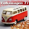 Новые прибытия 1 шт. 1:24 17.5 см KINSMART нежный красный микроавтобус ван автобус имитационная модель сплава автомобиль украшение дома подарок игрушка