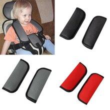 2 adet araba bebek çocuk emniyet emniyet kemeri omuz kapak koruyucu bebek arabası için koruma kasık emniyet kemeri kapağı araba şekillendirici