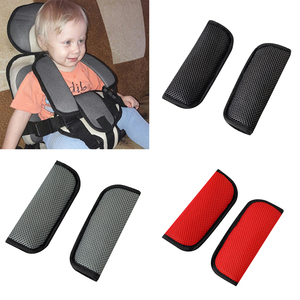 Image 1 - 2pcs Car Baby Child Safety Seat Belt Shoulder Cover Protector For Baby Stroller Protection Crotch Seat Belt Cover Car Styling