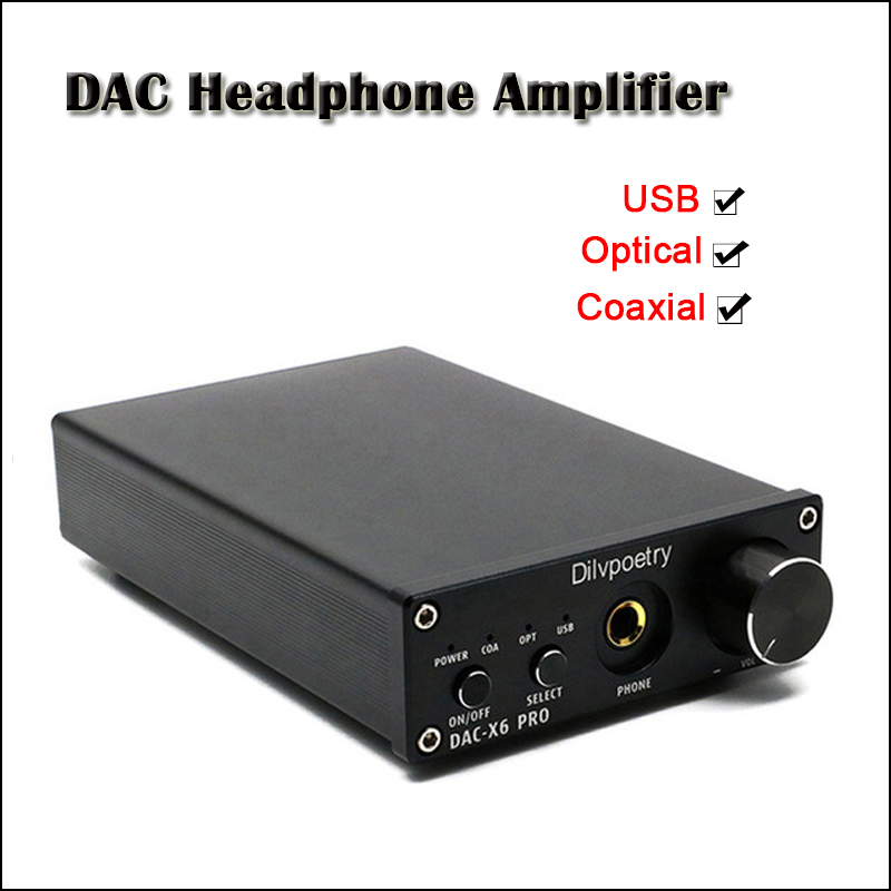 Dilvpoetry DAC-X6 PRO Desktop DAC Headphone Amplifier Audio 6.35mm Headphones Amplifier CS4398 Hifi USB DAC Headphone Amp 300ohm Термос