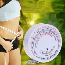BMI Body Mass Index Retractable Tape 150cm Weight Loss Measures Diet Milestone Metric Calculator Tools