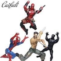 Marvel Efsaneler Eylem Rakam Siyah Panter Dul Pizza Spiderman Örümcek Adam Wolverine Deadpool Star Wars Model Oyuncaklar Çocuk Hediye