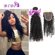 7A Brazilian Virgin Hair With Closure 3 Bundles With Closure Brazilian Kinky Curly Virgin Hair With Closure Queen Weave Beauty