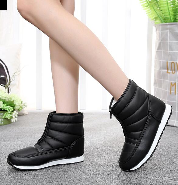 e2647f18878 US $10.38 42% OFF|2018 Women boots non slip waterproof winter ankle snow  boots women platform winter shoes with thick fur botas mujer XL 35 45 -in  ...