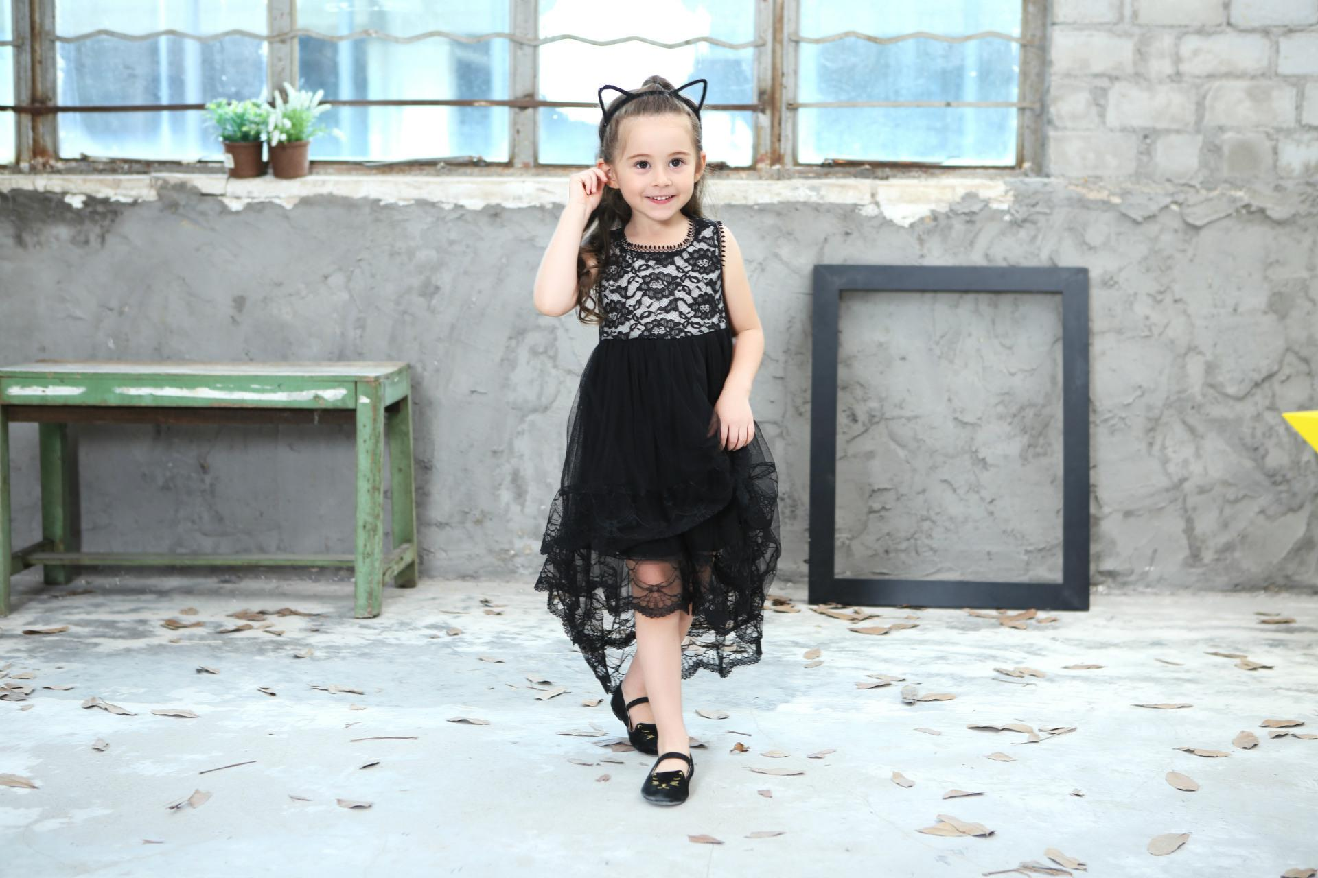2018 New Summer Girls Ball Gown Dresses Mesh Girls Clothes Princess Wedding Party Dress Pageant Children Clothes 10