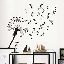 Dandelion Flowers Blossom Wall Art Creative Music Notes Muurstickers Wall Stickers Vinyl Diy Home Decor Living Room Decoration