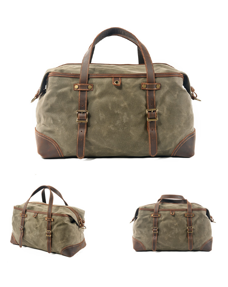 green army variant of the satchel duffle bag from Eiken
