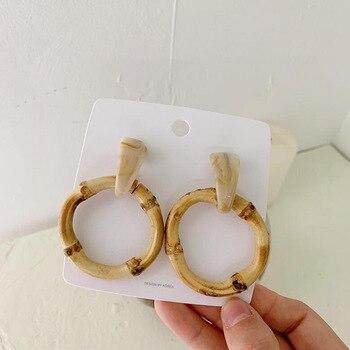 Round Bamboo Earrings  3