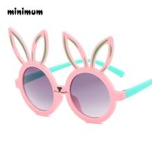 Минимальный милый кролик форма гибкие детские солнцезащитные очки UV400 очки оттенки младенческой поляризованные ребенок для маленьких детей Защитный солнцезащитные очки