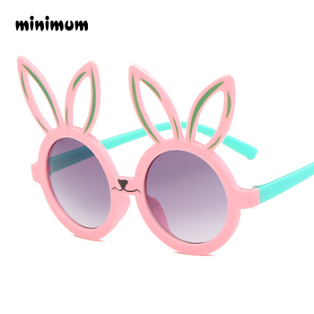 c58ff10fa6 Mínimo conejo lindo de la forma Flexible niños gafas de sol UV400 gafas  tonos infantil polarizado bebé niño seguridad de los niños gafas de sol