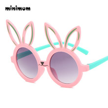 f573956d5aa MINIMUM Cute rabbit shape Flexible Kids Sunglasses UV400 Eyewear Shades  Infant Polarized Child Baby children Safety Sunglasses