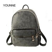 Younne Винтаж рюкзак Для женщин стильные Рюкзаки высокое качество из искусственной кожи Дорожные сумки для Обувь для девочек дизайнерские хоз...