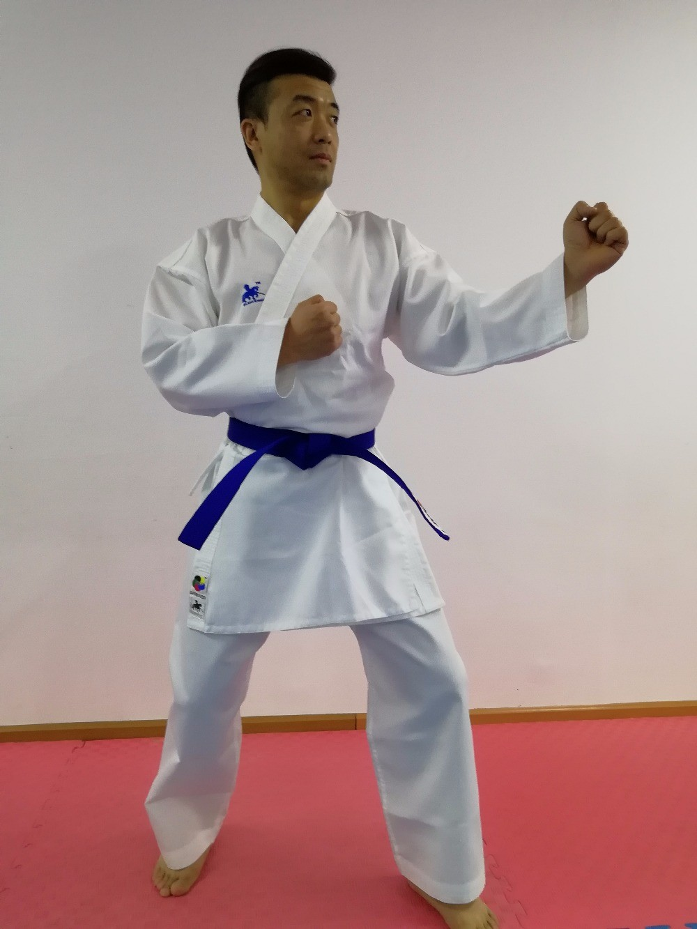 2018 new WKF approved Karate Kumite GI SILENT KNIGHT brand stripe lines quality for beginners to