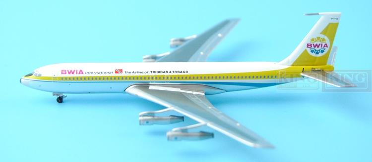 Aeroclassics British West India international aviation 9Y-TEZ 1:400 B707 commercial jetliners plane model hobby gjcca1366 b777 300er china international aviation b 2086 1 400 geminijets commercial jetliners plane model hobby