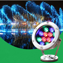 цена на Underwater Fountain Lights 30W 36W Waterproof Led Pool Light Waterfall Led Lights 24V Colorful RGB Spotlights Spa Party LED Lamp