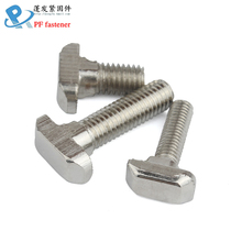 Peng Fa T-screw European standard bolt for nickel-plated aluminium profiles for hardware is suitable for 20304045 profiles delta kossel k800 corner section 3d printer accessories injection angle parts 2020 profiles suitable european standard profiles