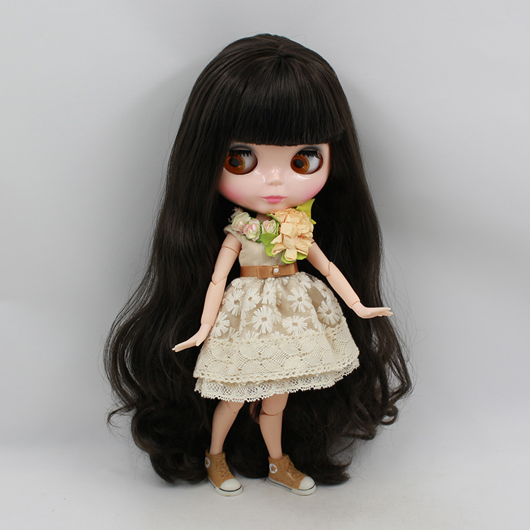 Beaukiss Nude Blyth doll with joint body model dark brown hair DIY 30cm fashion dolls for girls