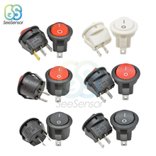 2Pcs ON/OFF Mini Round Rocker Switch Plastic Push Button Switch 3A 250VAC 6A 125VAC 2a 250vac 6a 125vac on off on 3 way 4p2t 4pdt toggle switch 12 solder terminals
