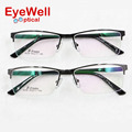 Men's fashion glasses frame myopia frame metal half-frame customized optical prescription eyeglasses 9259