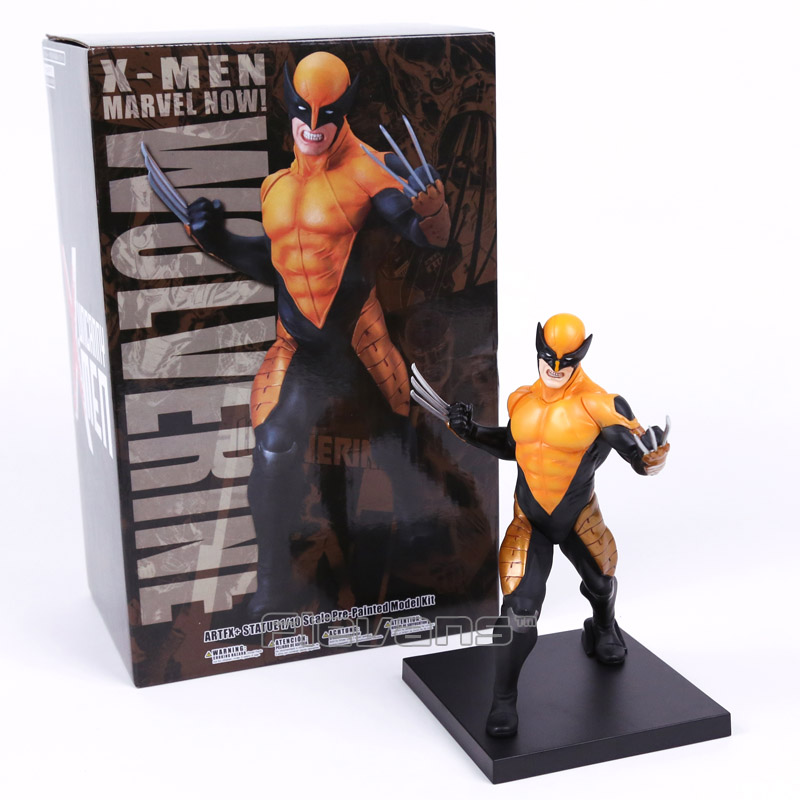 ARTFX + STATUE X men Logan 1/10 Scale Pre-Painted Figure Model Kit Collectible Toy 18cm artfx statue dc super hero red robin 1 10 scale pre painted figure collectible model toy