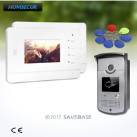 HOMSECUR 1V2 4.3inch Hands free Video Door Phone Intercom System with Intra monitor Audio Interaction