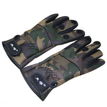 2016 Hot!upgraded Version Fishing Gloves Top Quality Outdoor Sports Anti Slip Thicken Camouflage Full Finger Accessories k8356