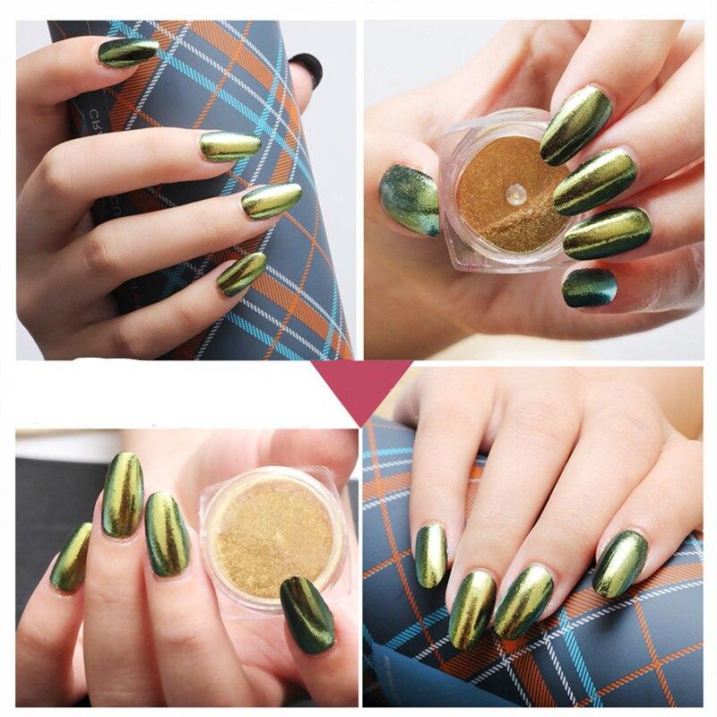 2g Nail Art Tips Mirror Powder Gold Sliver Chrome Pigment Glitter ...