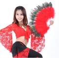 NEW! перо танец живота аксессуары старший пера павлина вентилятор танец живота для женщин танец вентиляторы аксессуары