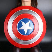 Escudo de Metal para Cosplay, escudo redondo de la justicia, Arma de película, modelo de figura de juego de rol, regalo de Halloween, Super Heroe americano, 1:1