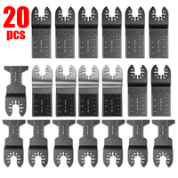20 pcs Multitool Saw Blade Oscillating Blade Multi Tool Circular Saw Blades Wood Cutting Kit