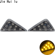 1Pcs Turning Light Motorcycle Smoke Triangle Flush Mount LED Waterproof Easy installation Turn Signals Lights Blinker