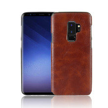 SuliCase Leather Case for Samsung S9 Plus S9+ Silicone TPU Skin Phone Cover Galaxy S9Plus G965 G965F SM-G965