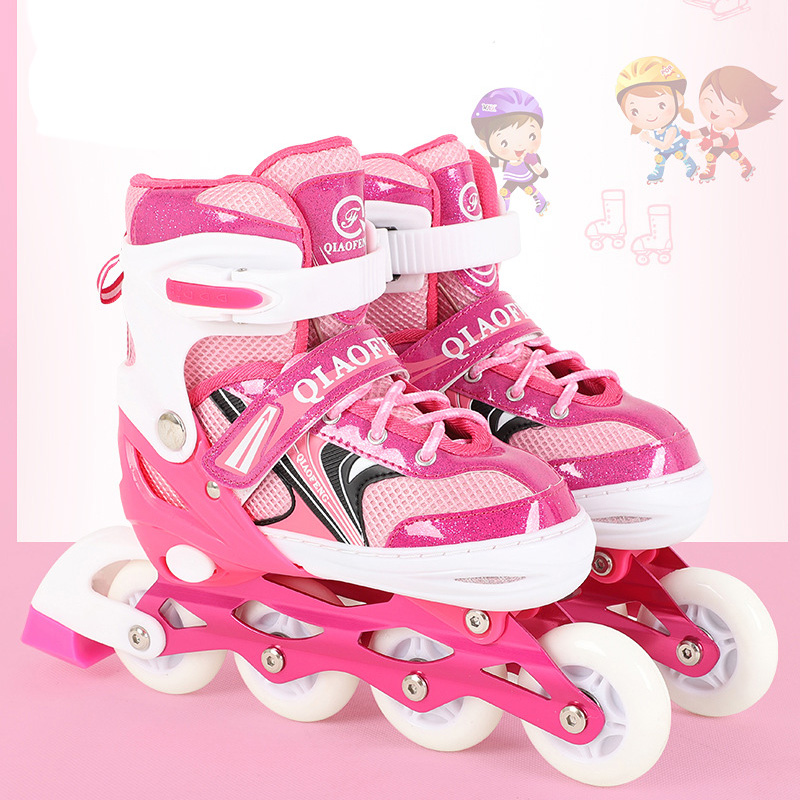 2018 1 Pair Adult Children Inline Skates Roller Skating Shoes Adjustable Washable Patines For Girls Boys Adult