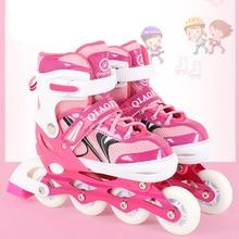 2019 1 Pair Adult Children Inline Skates Roller Skating Shoes Adjustable Washable  Patines  For Girls Boys Adult