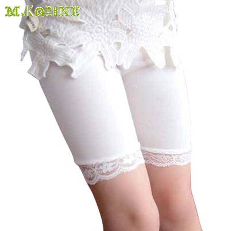 Girls Safety Short Pants Underwear Leggings Super Elastic Solid Modal Lace Shorts Baby Kids Boxer Briefs Prevent Emptied Shorts lace hem shorts