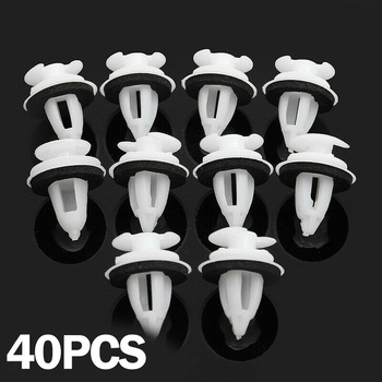 Auto Accessories Set High Quality Of 40 Door Panel Clips W/Seal Ring For BMW E30 E34 E36 E38 E46 X5 M3 M5 Z3 image