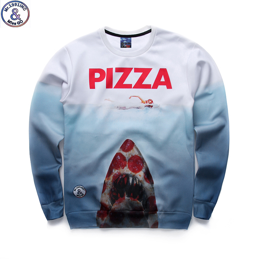 12-18years big kids brand sweatshirt boys youth fashion 3D Pizza Jaws printed hoodies girls jogger sportwear teens unisex W22