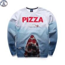 Mr 1991 brand 12 18years big kids sweatshirt boys youth fashion 3D Pizza Jaws printed hoodies