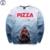 Mr.1991 marca 12-18years Mandíbulas de Pizza grande camiseta de los niños niños moda juvenil 3D impreso sudaderas con capucha chicas jogger sportwear unisex W22