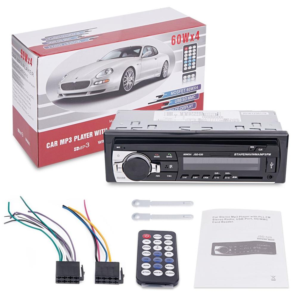 Image 5 - Bluetooth stereo subwoofer car radio 1.din hd 12V In dash USB .FM Radio Aux Input receiver SD MMC MP3 auto multimedia Player-in Car Radios from Automobiles & Motorcycles