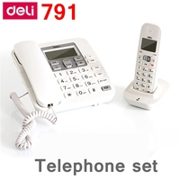 [ReadStar]Deli 791 Mother & son cordless telephone set office telephone alarm caller ID display records date time display