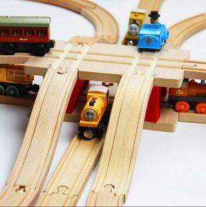Image 3 - TTC51 H BRIDGE Wooden Track toy Train Scene Track Accessories BRIO Toy Car Truck Locomotive Engine Railway Toys for Children A