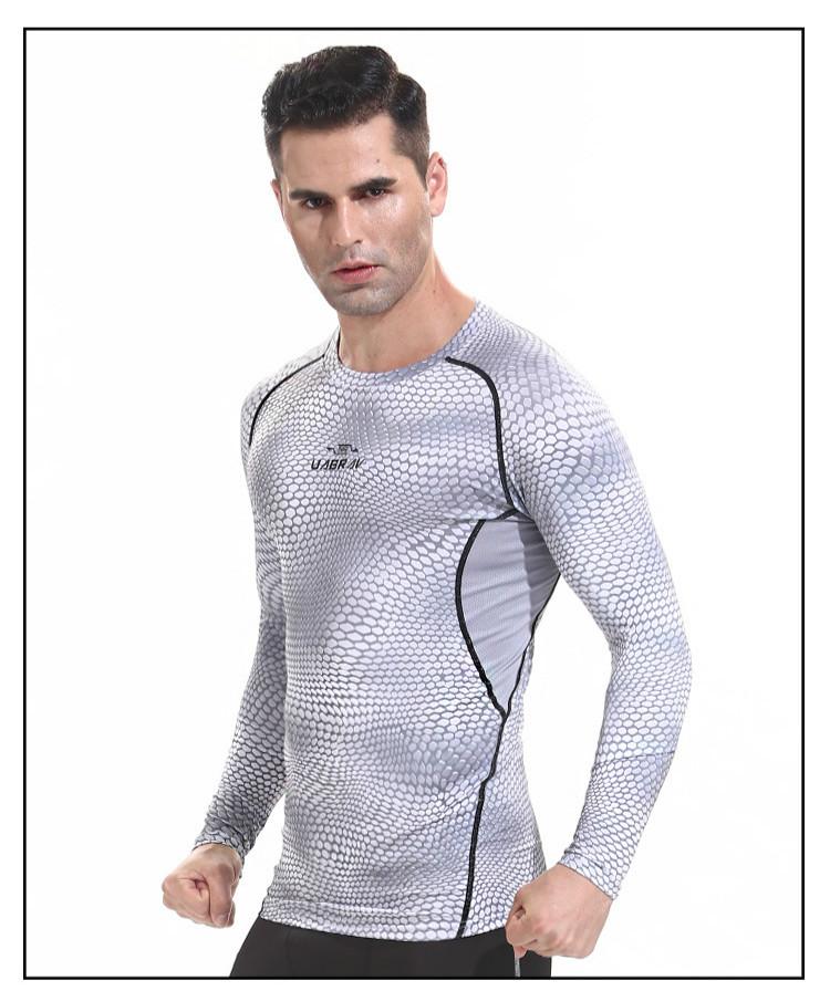 44513725093f5 Compre UABRAV Esporte Camisa Dos Homens De Manga Longa GINÁSIO ...