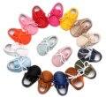 Borlas de La Manera del bebé Primeros Caminante zapatos Inferiores Suaves Bebé Mocasín Zapatos de Los Bebés Recién Nacidos Prewalkers Botas de Cuero de LA PU